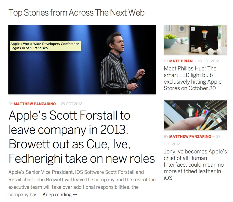 A Peak at The Next Web Redesign
